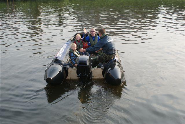Harron in de boot